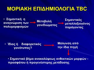 ΜΟΡΙΑΚΗ ΕΠΙΔΗΜΙΟΛΟΓΙΑ  TBC