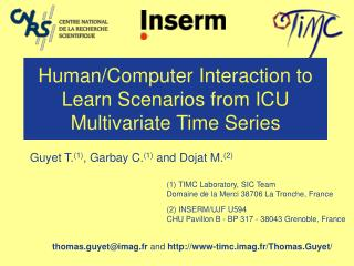 Human/Computer Interaction to Learn Scenarios from ICU Multivariate Time Series