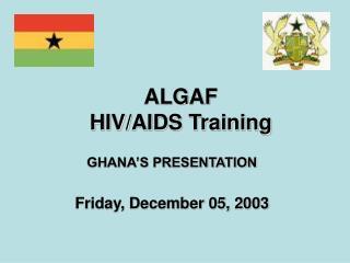 ALGAF  HIV/AIDS Training