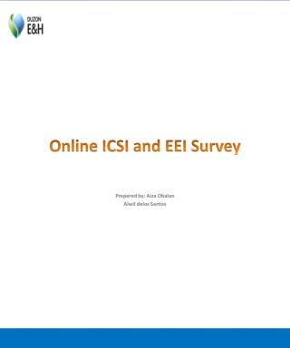 Online ICSI and EEI Survey