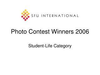 Photo Contest Winners 2006