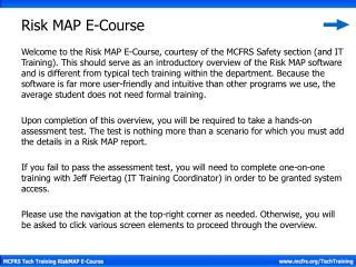 Risk MAP E-Course