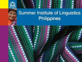 Summer Institute of Linguistics Philippines