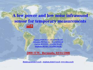 A low power and low noise infrasound sensor for temporary measurements