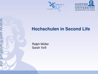 Hochschulen in Second Life