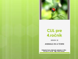 CLIL pre 4.ročník