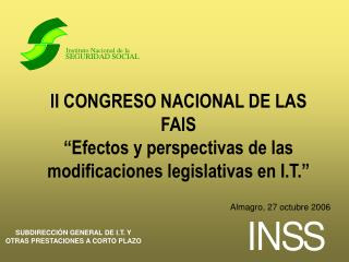 II CONGRESO NACIONAL DE LAS FAIS
