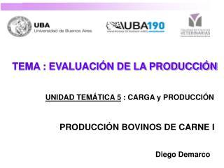 TEMA : EVALUACIÓN DE LA PRODUCCIÓN