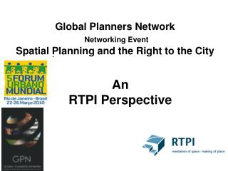 Global Planners Network Networking Event Spatial Planning and the Right to the City