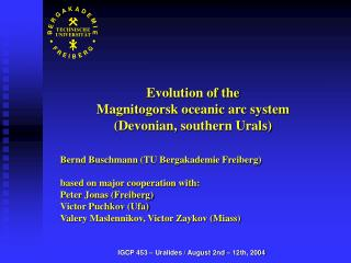 Evolution of the  Magnitogorsk oceanic arc system  (Devonian, southern Urals)