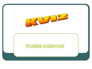 Hrvatska književnost