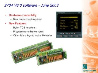 2704 V6.0 software - June 2003