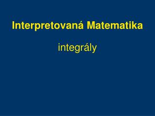 Interpretovan � Matematika