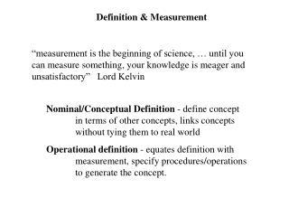 Definition  Measurement