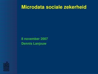 Microdata sociale zekerheid