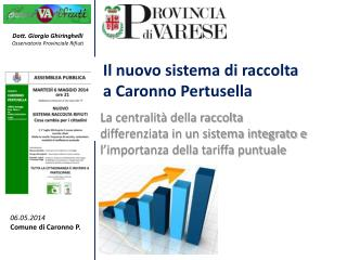Il nuovo sistema di raccolta a Caronno Pertusella