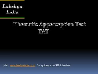 Thematic  Apperception Test TAT