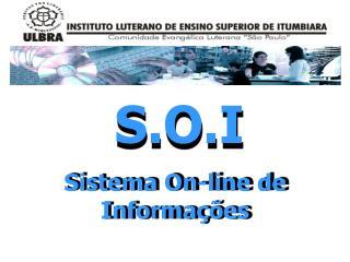 Sistema On-line de Informações