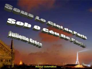 Sous Le Ciel de Paris Sob O C�u De Paris