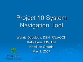 Project 10 System Navigation Tool