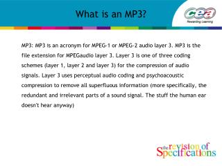 What is an MP3