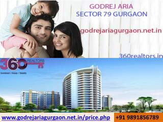 SEC79 Godrej Aria {91} 9891856789 Booking Open 360Realtors