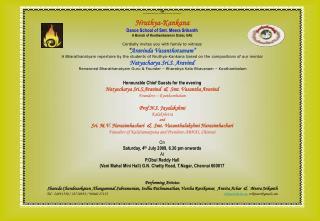 OM Shree Swaminatha Swami Thunai - Shree Kamakshi Devi Thunai - Shree RamaJayam Nruthya-Kankana