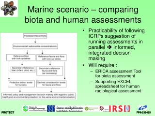 Marine scenario – comparing biota and human assessments