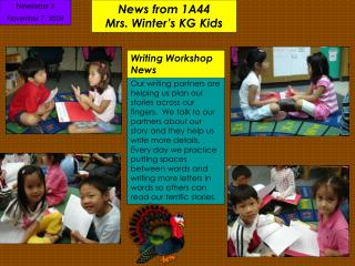 News from 1A44                  Mrs. Winter