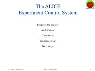The ALICE Experiment Control System