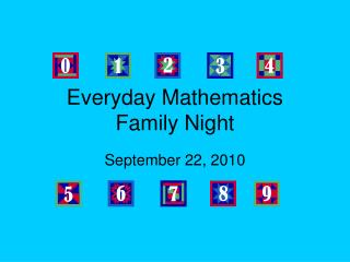 Everyday Mathematics Family Night