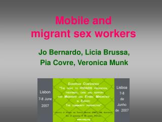 Mobile and  migrant sex workers