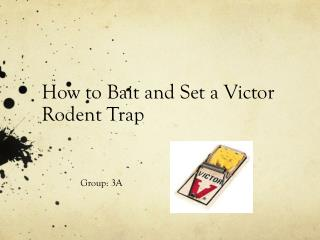 How to Bait and Set a Victor Rodent Trap