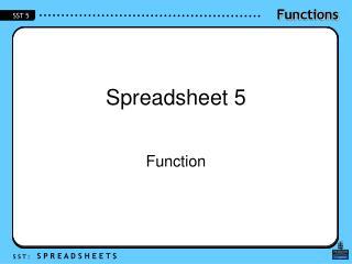 Spreadsheet 5