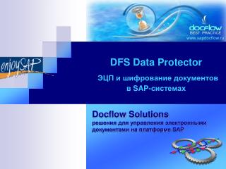 DFS Data Protector ЭЦП и шифрование документов  в  SAP- системах