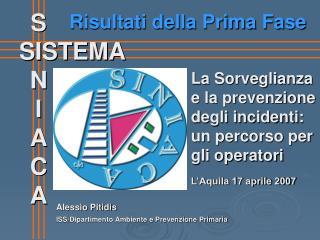 ISS/Dipartimento Ambiente e Prevenzione Primaria