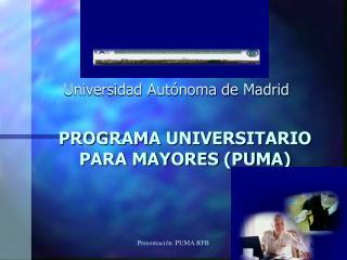 PROGRAMA UNIVERSITARIO PARA MAYORES PUMA