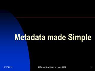 Metadata made Simple