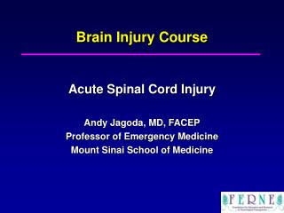 Brain Injury Course