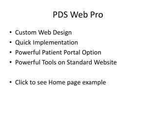 PDS Web Pro