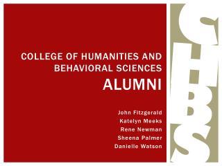 College of humanities and behavioral sciences  alumni