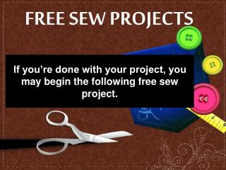 FREE SEW PROJECTS