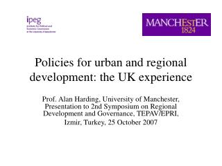 Policies for urban and regional development: the UK experience