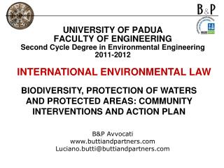 BIODIVERSITY, PROTECTION OF WATERS AND PROTECTED AREAS: COMMUNITY INTERVENTIONS AND ACTION PLAN