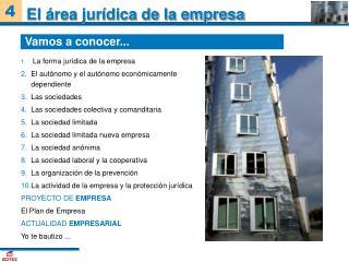 El área jurídica de la empresa