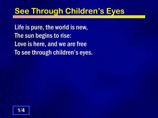 See Through Children�s Eyes