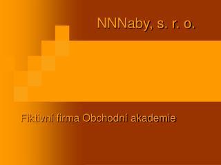 NNNaby, s. r. o.