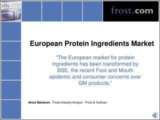 European Protein Ingredients Market