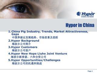 Hypor in China