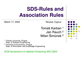 SDS-Rules and Association Rules